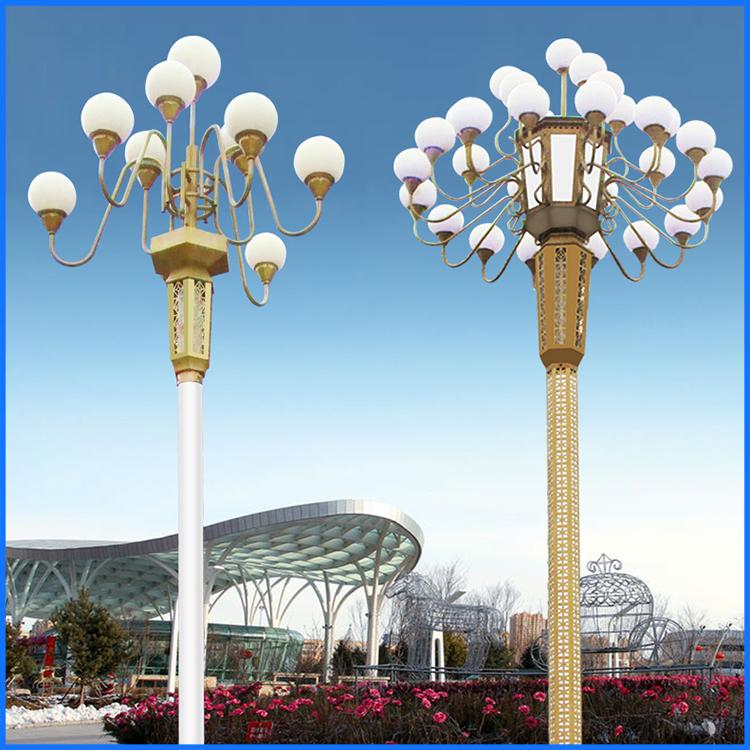 12米led中华灯工程景观照明